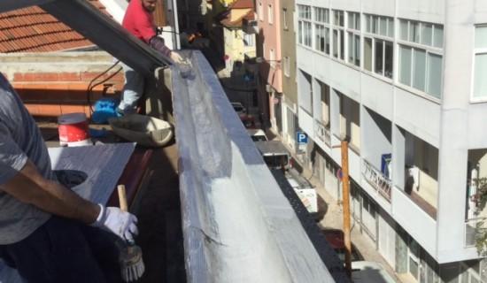 Armação do telhado e Isolamento da Caleira.